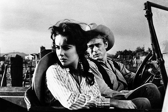 Elizabeth Taylor and James Dean in Giant