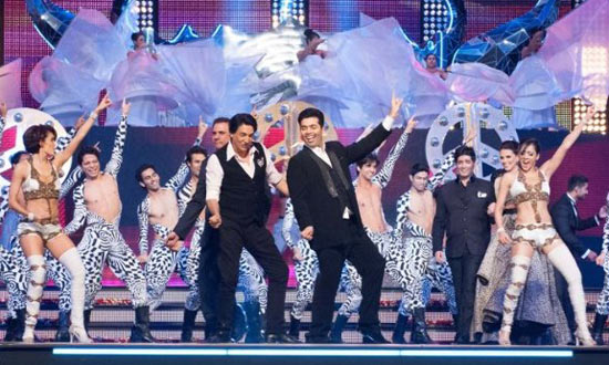 Shiamak Davar and Karan Johar