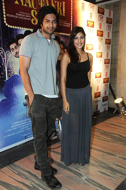 Ali Fazal and Rhea Chakraborty