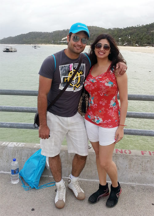 Vivian and Vahbbiz Dsena at Tangalooma Island