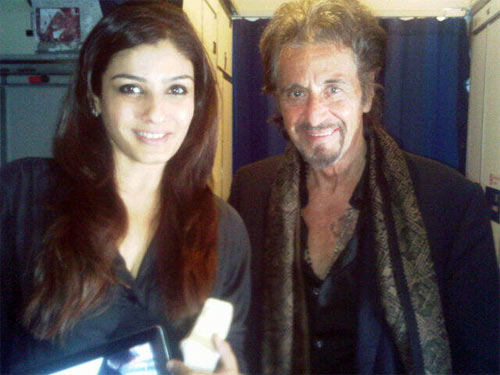 Raveena Tandon and Al Pacino