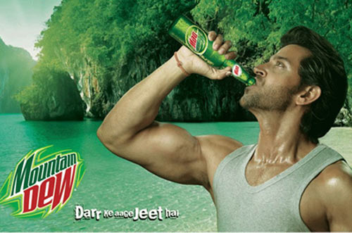 Hrithik Roshan in Mountain Dew ad