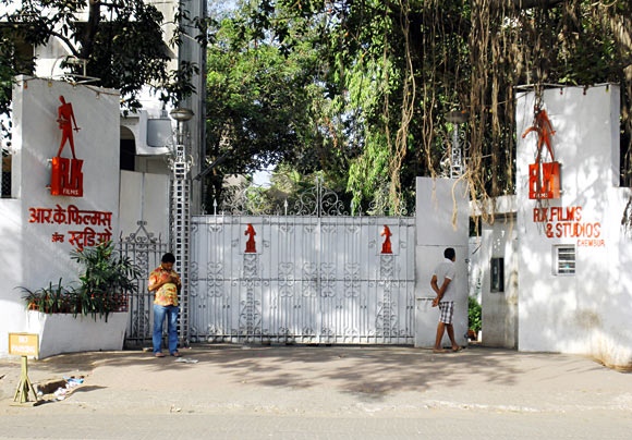The entrance to RK Studios. Photograph: Hitesh Harisinghani/Rediff.com