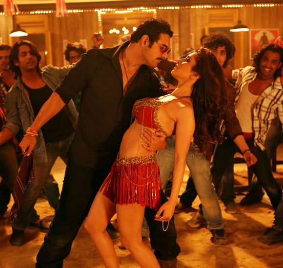 Sophie Choudry and John Abraham in Shootout At Wadala