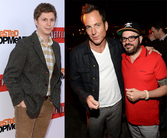 Michael Cera, Will Arnett and David Cross
