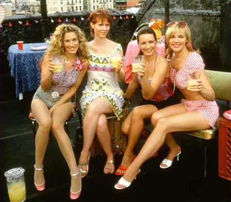 Sarah Jessica Parker, Cynthia Nixon, Kristen Davis and Kim Catrall in Sex And The City