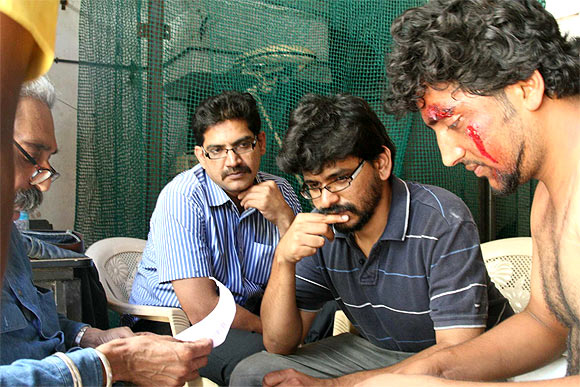 Pawan Kumar on the sets of Lucia