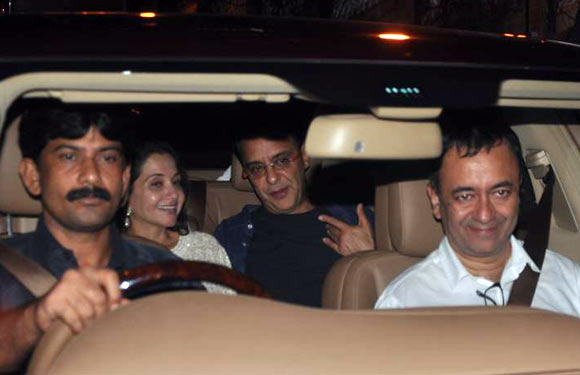 Anupama and Vidhu Vinod Chopra with Rajkumar Hirani