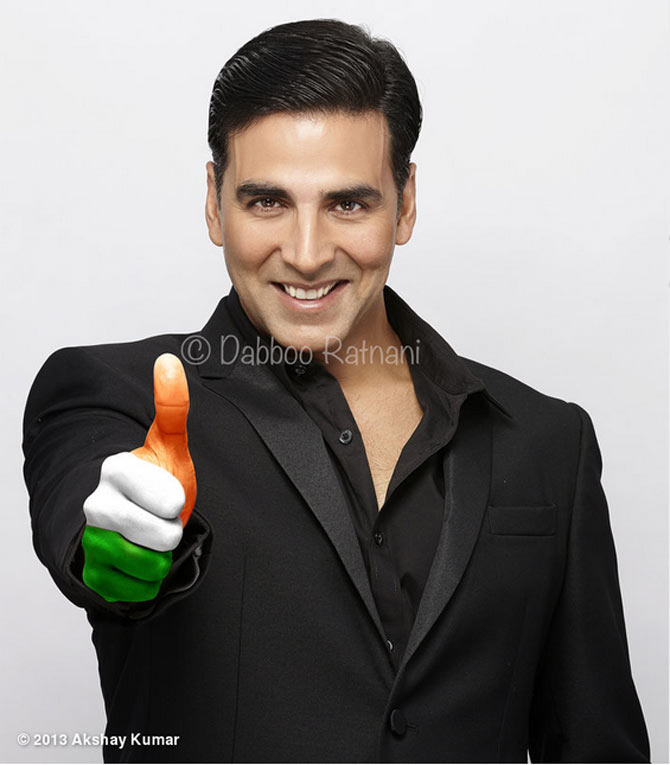 Akshay Kumar poses for photographer Daboo Ratnani.
