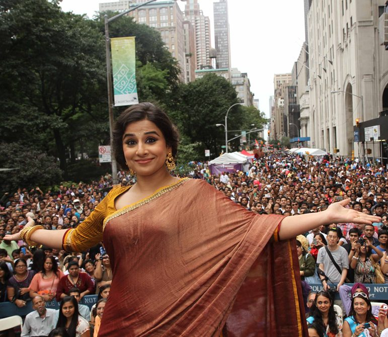 Vidya Balan as the Grand Marshal at the annual India Day Parade in New York, August 17, 2013. Photograph: Paresh Gandhi