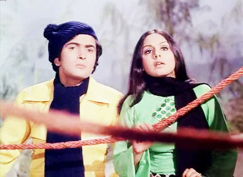 Rishi Kapoor and Neetu Singh in Khel Khel Mein