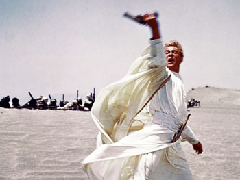 Peter O'Toole in and as Lawrence of Arabia