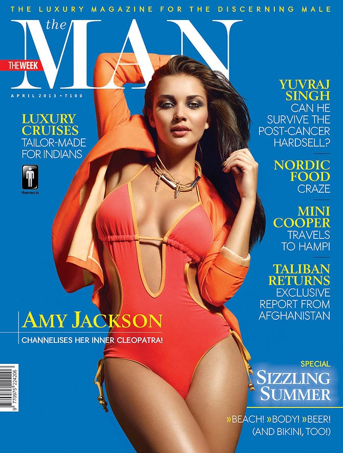 Amy Jackson on The Man cover