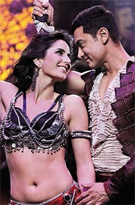 Katrina Kaif and Aamir Khan in Dhoom 3