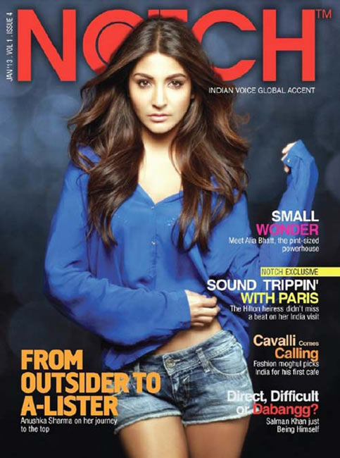 Anushka Sharma on Notch Cover