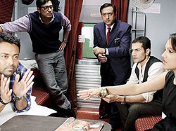 A scene from Rajdhani Express