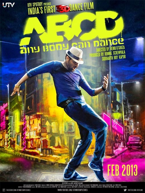 Movie poster of ABCD: Any Body Can Dance