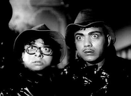 R D Burman and Mehmood in Bhoot Bangla