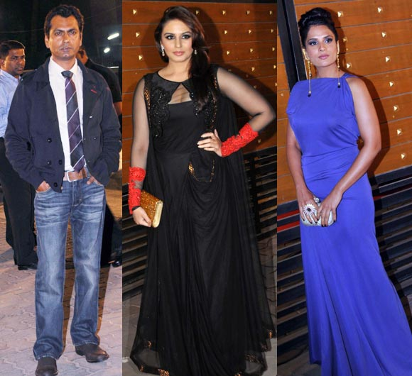 Nawazuddin Siddiqui, Huma Qureshi and Richa Chaddha
