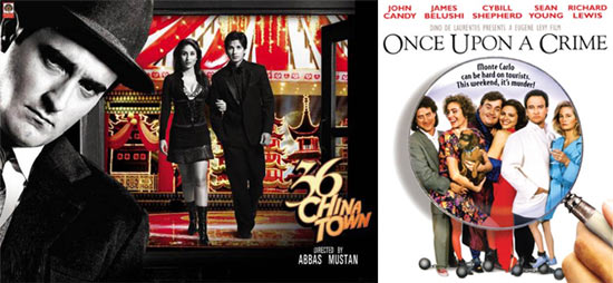 Movie posters of 36 China Town and Once Upon A Crime