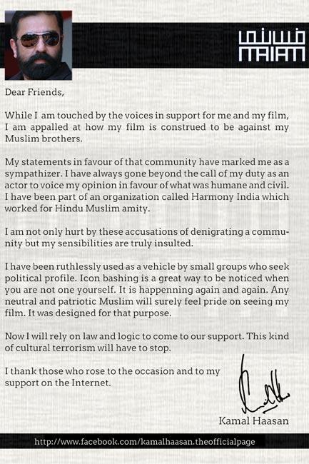 Haasan: Vishwaroopam is not against my Muslim brothers