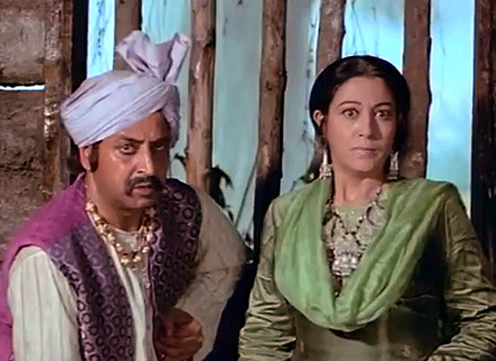 Pran left in Heer Ranjha (1970)