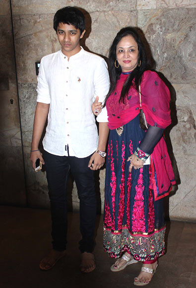 Smita Thackeray with her son