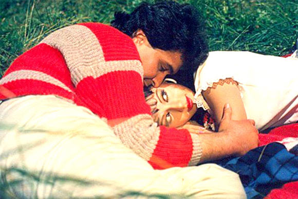 Rishi Kapoor with Sridevi in Chandni