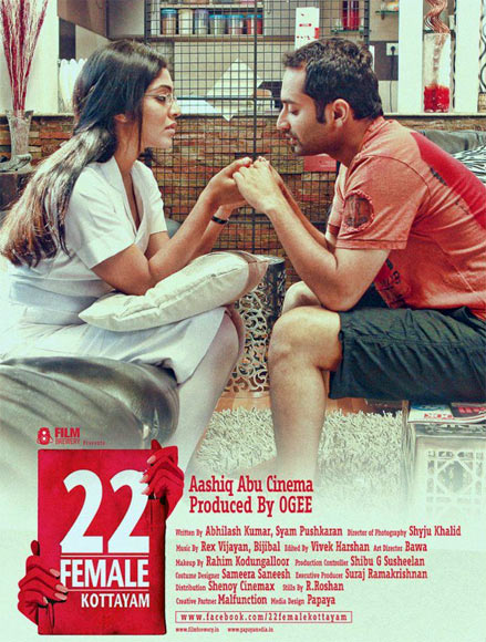 Movie poster of 22 Female Kottayam