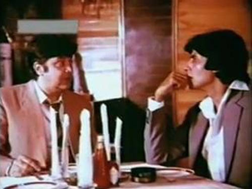 Deven Varma and Amitabh Bachchan in Bemisaal