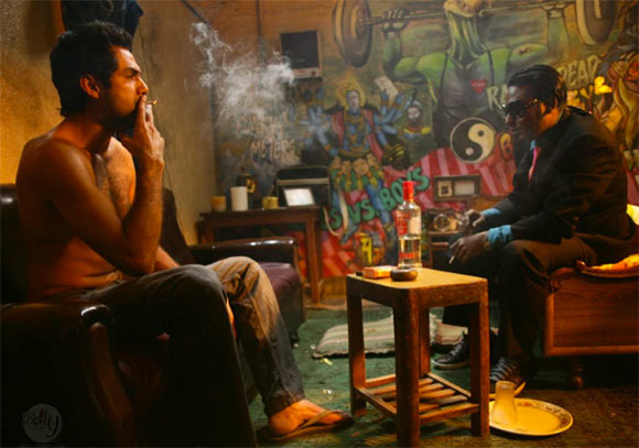 Abhay Deol and Dibyendu Bhattacharya in Dev D
