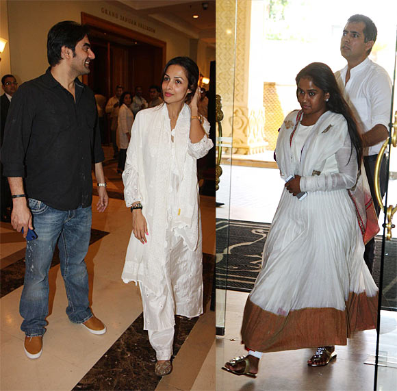 (L-R) Arbaaz Khan and Malaika Arora-Khan and Arpita Khan, Kapil Sharma