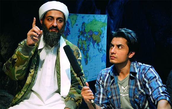 Ali Zafar with costar Pradyuman Singh in Tere Bin Laden