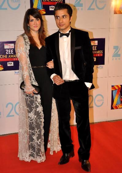 Ali Zafar with wife Ayesha Fazli
