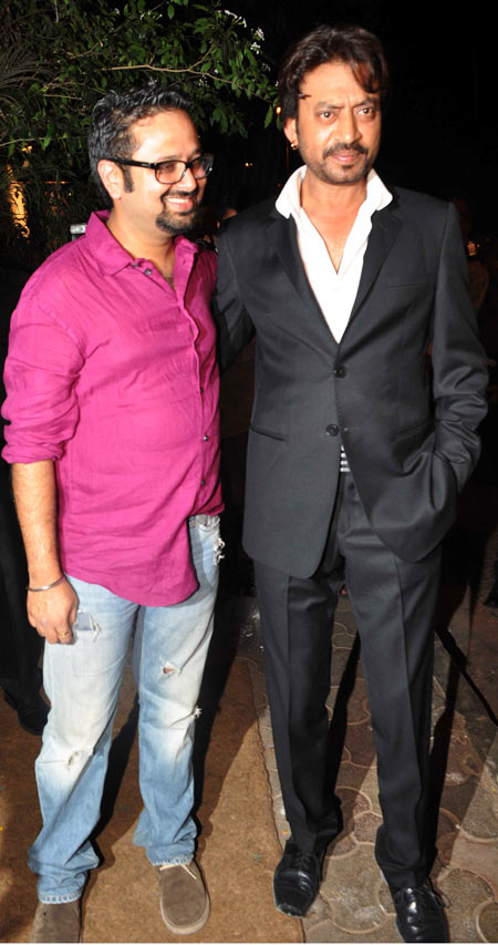 Nikhil Advani and Irrfan Khan