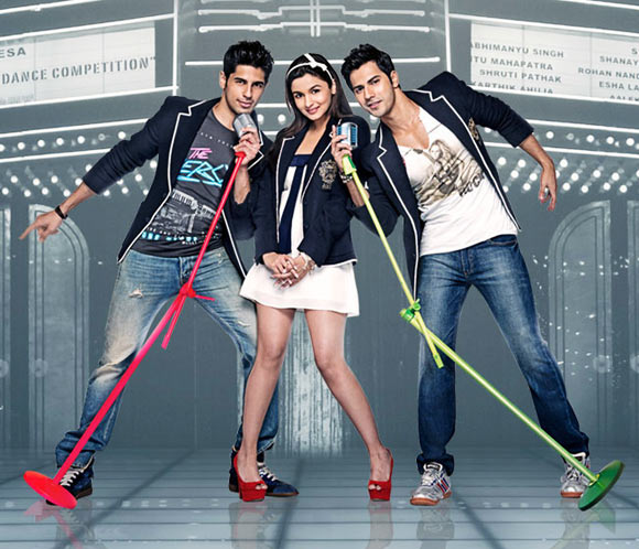 Siddharth Malhotra, Alia Bhatt and Varun Dhawan in Student Of The Year