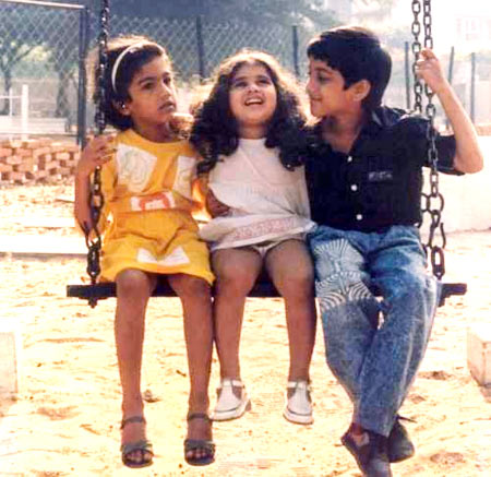 Anu, Shamili and Tarun in Anjali