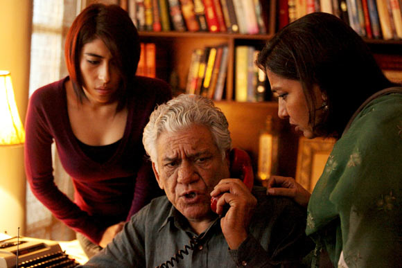 Meesha Shafi, Om Puri and Shabana Azmi in The Reluctant Fundamentalist
