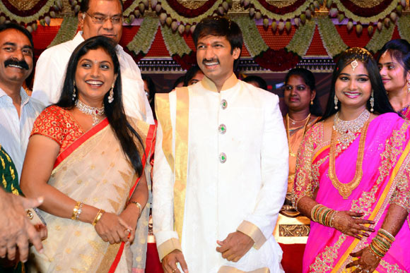 Roja with Gopichand and Reshma