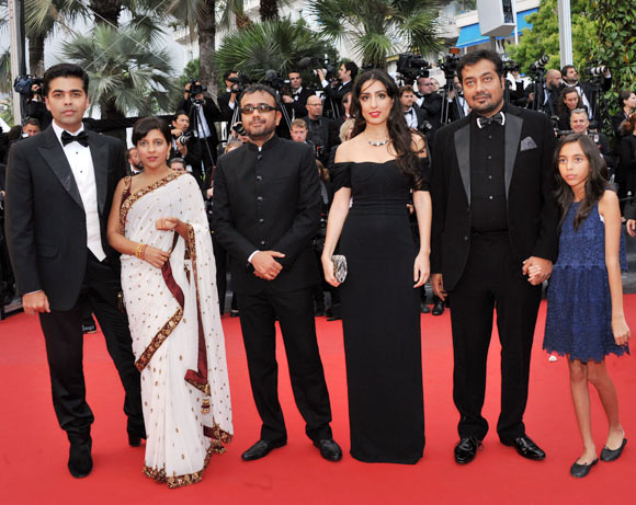 Karan Johar, Zoya Akhtar, Dibaker Banerjee, Ashi Dua, Anurag Kashyap and his daughter Aliya
