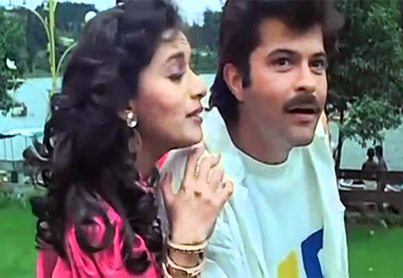 Madhuri Dixit and Anil Kapoor in Tezaab