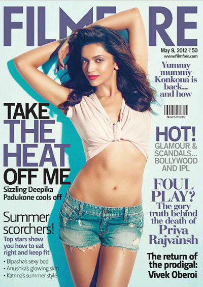 Deepika Padukone on the cover of Filmfare magazine