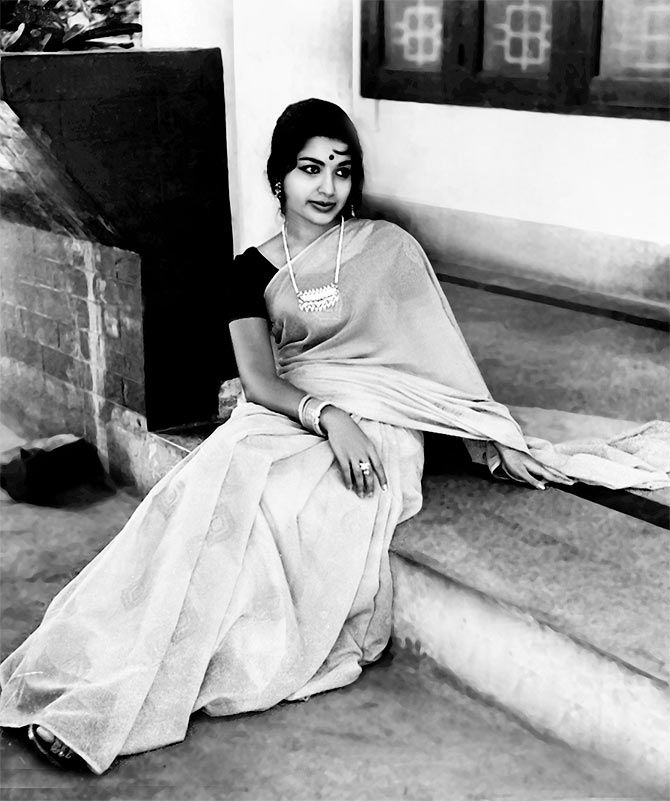 Jayalalitha in the days when she was an actress.