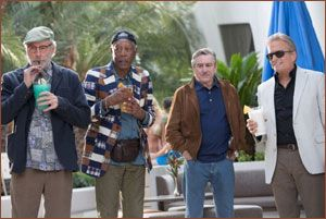 Kevin Kline, Morgan Freeman, Robert DeNiro and Michael Douglas in Las Vegas
