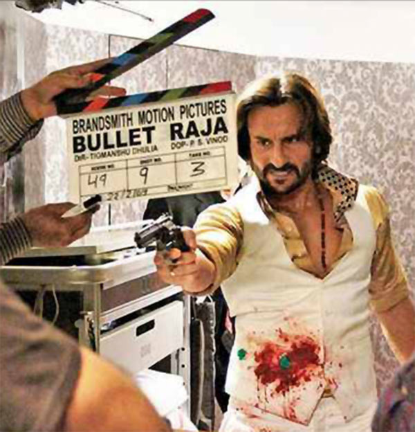 Saif Ali Khan on the sets of Bullett Raja