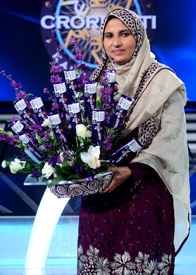 Firoz Fatma, the first female crorepati on KBC 7.