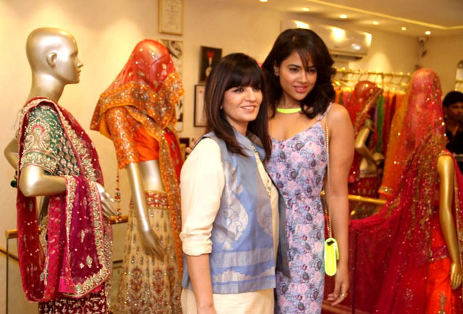 Neeta Lulla and Sameera Reddy