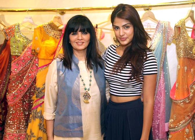 Rhea Chakraborty with Neeta Lulla