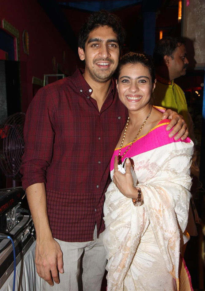 Ayan Mukherji and Kajol