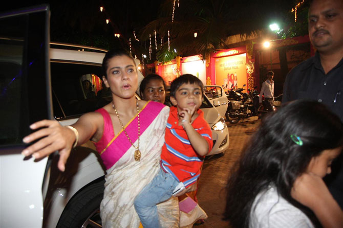 Kajol with her son Yug